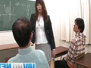 blowjob,mature,tit,teacher,high heels